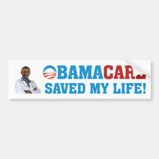 ¡Obamacare ahorró mi vida! Pegatina Para Auto