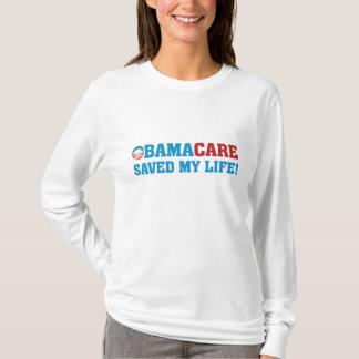 ¡Obamacare ahorró mi vida! Playera