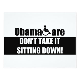 "ObamaCare anti Invitación 4.25"" X 5.5"""