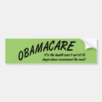 Obamacare Anti Obama Funny Bumper Sticker