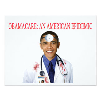 Obamacare Anti Obama Health Care Apparel Invites