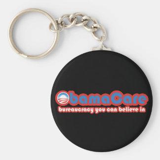ObamaCare Basic Round Button Keychain