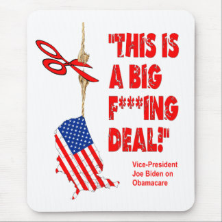 Obamacare Big Deal Hanging By A Thread Mouse Pad