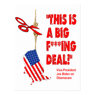 Obamacare Big Deal Hanging By A Thread Postcard