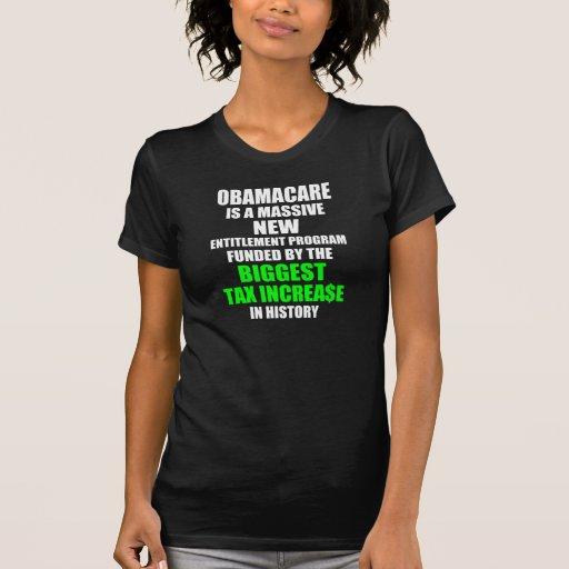 Obamacare Biggest Tax Increase Tee Shirts