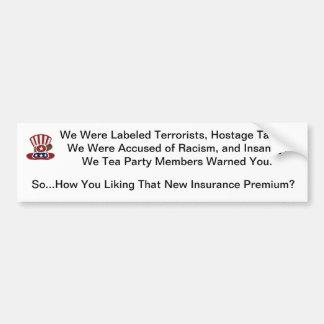 Obamacare Etiqueta De Parachoque