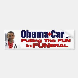 ObamaCare Pegatina De Parachoque