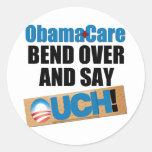 ObamaCare: Curva encima Etiqueta Redonda
