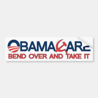 ObamaCare, curva encima y lo toma Pegatina Para Auto