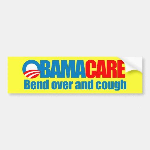 Obamacare - curva encima y tos pegatina de parachoque