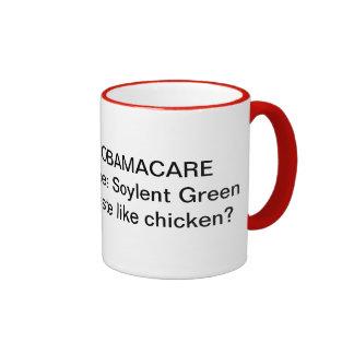 Obamacare-Does Soylent Green taste like chickes? Ringer Mug