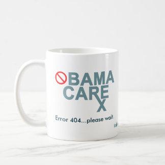 Obamacare:  Error 404...please wait. Classic White Coffee Mug