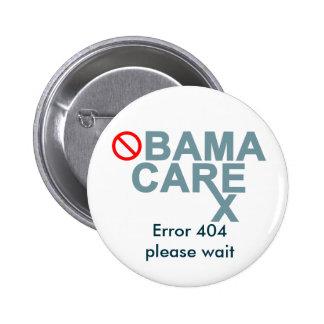 Obamacare:  Error 404...please wait. Pinback Button