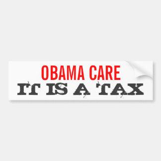 Obamacare es un IMPUESTO - elija a Mitt Romney 201 Pegatina Para Auto