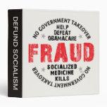 Obamacare Fraud 3 Ring Binders