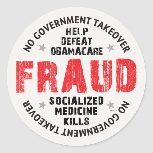 Obamacare Fraud Stickers