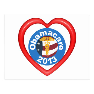 Obamacare Heart Postcard