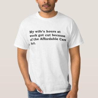 Obamacare (hours, non-pugnacious, wife) shirt