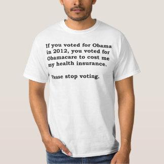 Obamacare (insurance, pugnacious) t-shirt