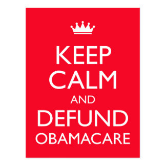 Obamacare is a train wreck, a bureaucratic governm postcard