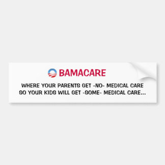 OBAMACARE IS SCARY!! BUMPER STICKER