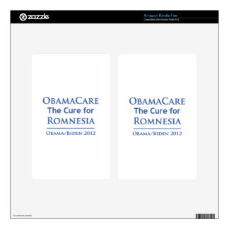 Obamacare is the cure for Romnesia Kindle Fire Decals