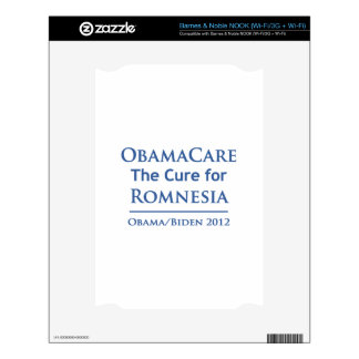 Obamacare is the cure for Romnesia Skins For The NOOK