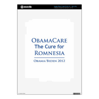 Obamacare is the cure for Romnesia Skins For iPad 3