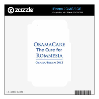 Obamacare is the cure for Romnesia Skin For The iPhone 3G