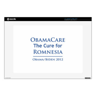 """Obamacare is the cure for Romnesia Skin For 15"""" Laptop"""