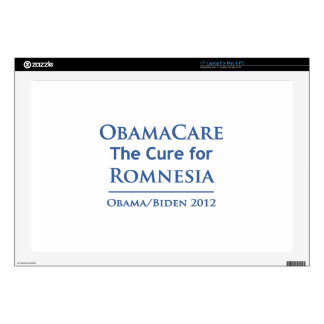 """Obamacare is the cure for Romnesia Skins For 17"""" Laptops"""