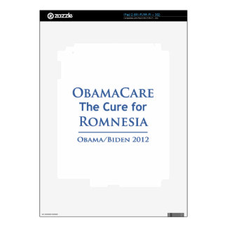 Obamacare is the cure for Romnesia iPad 2 Decals