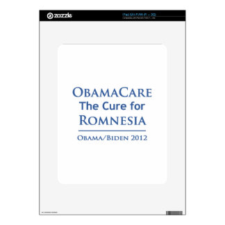 Obamacare is the cure for Romnesia Decals For The iPad