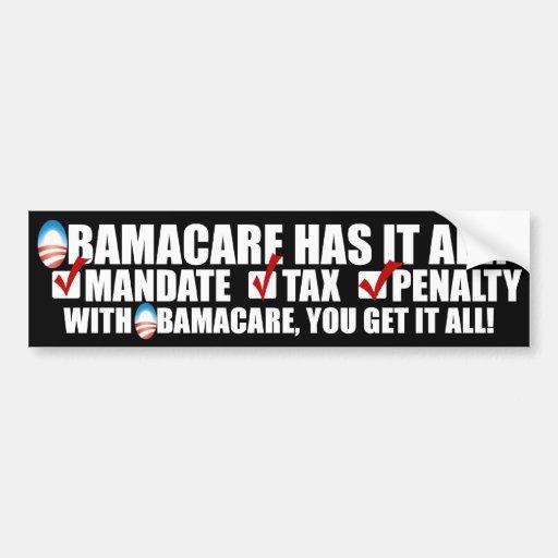 ObamaCare: Mandate Tax Penalty Bumper Sticker