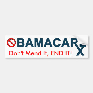 Obamacare: ¡No lo repare, LO TERMINAN! Pegatina Para Auto