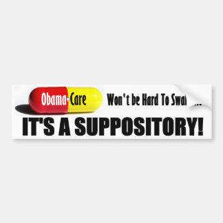 ObamaCare: ¡No sea duro de tragar! Pegatina De Parachoque