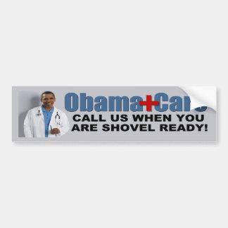 ObamaCare: Pala lista Pegatina Para Auto