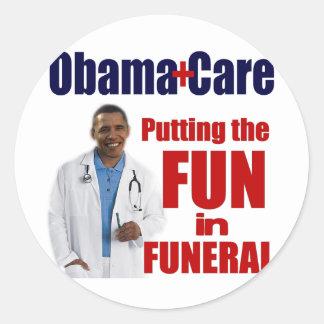 ObamaCare Pegatina Redonda