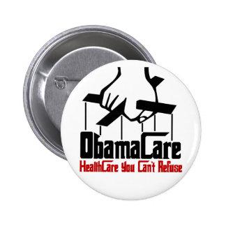 ObamaCare Pin Redondo De 2 Pulgadas