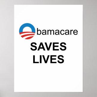 Obamacare saves lives poster