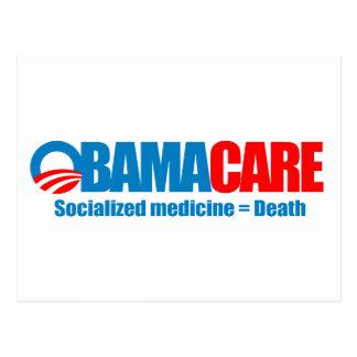 Obamacare - Socialized medicine = death Postcards