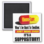 ObamaCare - Suppository 2 Inch Square Magnet