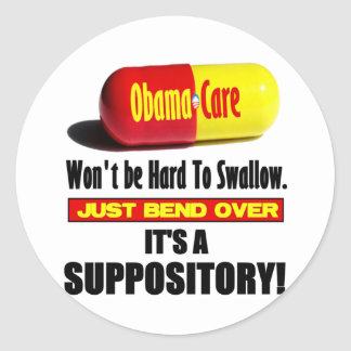 ObamaCare - Suppository Classic Round Sticker