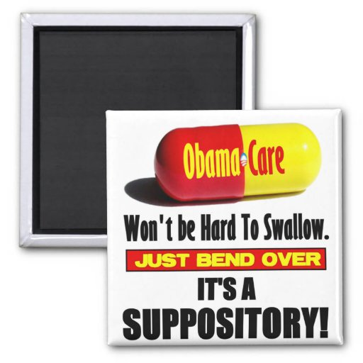 ObamaCare - Suppository Imán Cuadrado