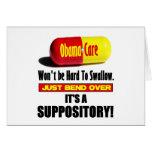 ObamaCare - Suppository Tarjeta De Felicitación