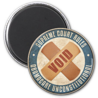 Obamacare Unconstitutional 2 Inch Round Magnet