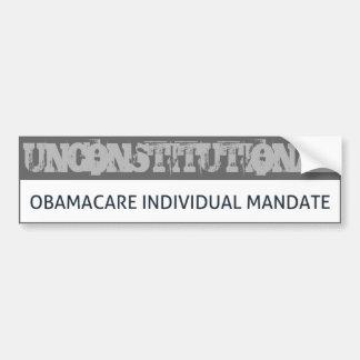 Obamacare Unconstitutional Bumper Stickers