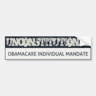 Obamacare Unconstitutional Bumper Sticker