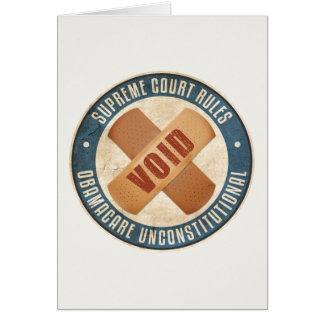 Obamacare Unconstitutional Card