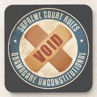Obamacare Unconstitutional Drink Coaster